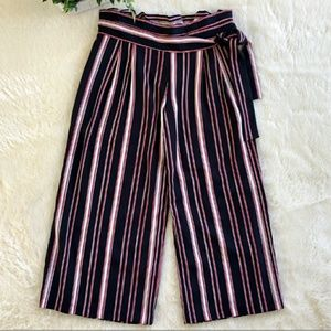 Cynthia Rowley Red White Blue Cropped Pants Size 8